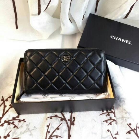 82d573e33c27 CHANEL Handbags - Chanel Leather Zipper Wallet VIP Gift